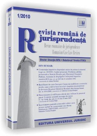 Imagine Revista romana de jurisprudenta, Nr. 1/2010