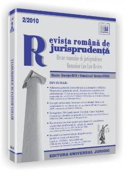 Imagine Revista romana de jurisprudenta, Nr. 2/2010