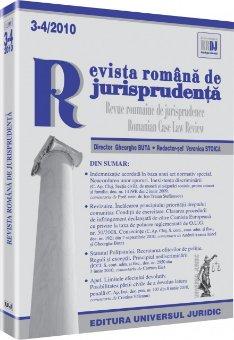 Imagine Revista romana de jurisprudenta, Nr. 3-4/2010