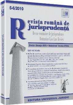 Imagine Revista romana de jurisprudenta, Nr. 5-6/2010