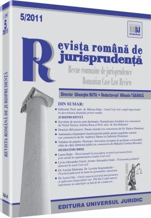 Imagine Revista romana de jurisprudenta, Nr. 5/2011