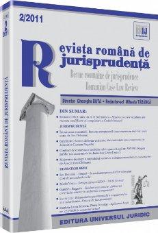 Imagine Revista romana de jurisprudenta, Nr. 2/2011