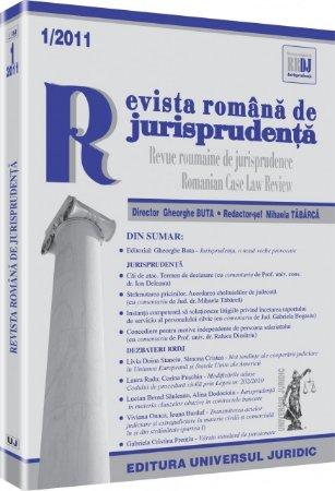 Imagine Revista romana de jurisprudenta, Nr. 1/2011