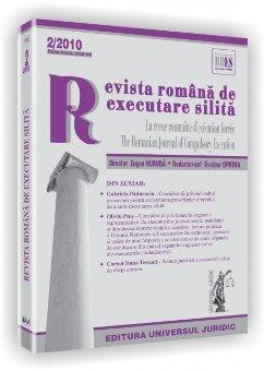 Imagine Revista romana de executare silita, Nr. 2/2010