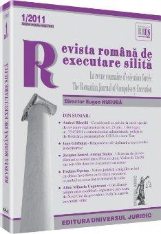 Imagine Revista romana de executare silita nr. 1/2011