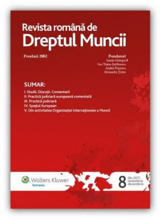 Imagine Revista Romana de Dreptul Muncii, Nr. 8/2011