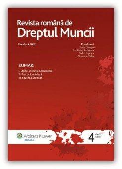 Imagine Revista Romana de Dreptul Muncii, Nr. 4/2011