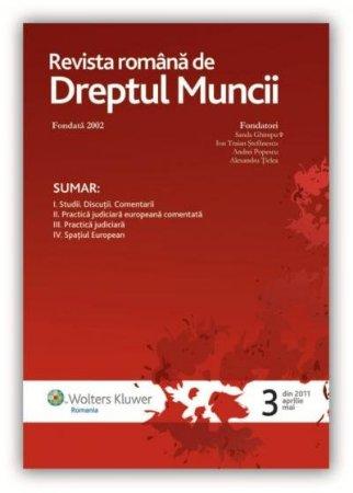 Imagine Revista Romana de Dreptul Muncii, Nr. 3/2011