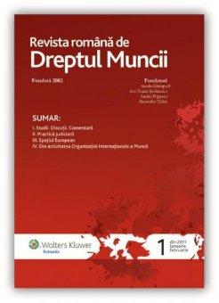 Imagine Revista Romana de Dreptul Muncii, Nr. 1/2011