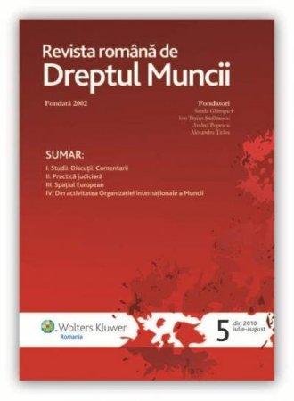 Imagine Revista romana de dreptul muncii, Nr. 5/2010