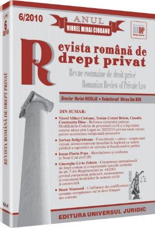 Imagine Revista romana de drept privat, Nr. 6/2010