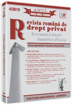 Imagine Revista romana de drept privat, Nr. 4/2010