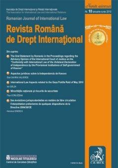 Imagine Revista Romana de Drept International, Nr. 10/2010