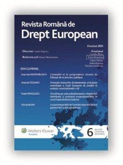 Imagine Revista Romana de Drept European, Nr. 6/2011