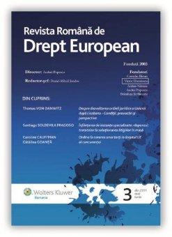 Imagine Revista Romana de Drept European, Nr. 3/2011