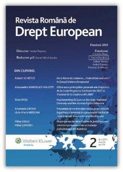 Imagine Revista Romana de Drept European, Nr. 2/2011