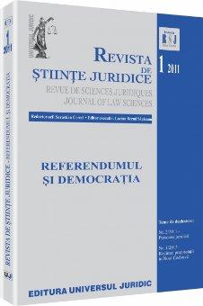 Imagine Revista de Stiinte Juridice, Nr. 1/2011
