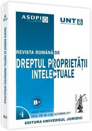 Imagine Revista romana de dreptul proprietatii intelectuale, nr. 4/2011