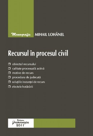 Imagine Recursul in procesul civil (2011)
