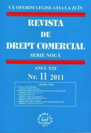 Imagine Revista de drept comercial, Nr. 11/2011