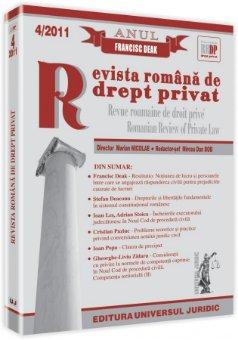 Imagine Revista romana de drept privat, Nr. 4/2011