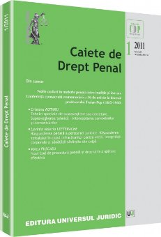 Imagine Caiete de Drept Penal, Nr. 1/2011