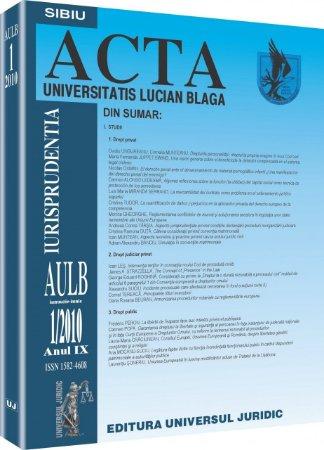 Imagine Acta Universitatis, Nr. 1/2010