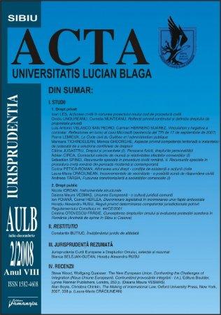 Imagine Acta Universitatis, Nr. 2/2008