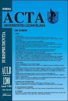 Imagine Acta Universitatis, Nr. 1/2008