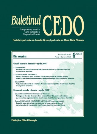 Imagine Buletinul CEDO, Nr. 6/2008