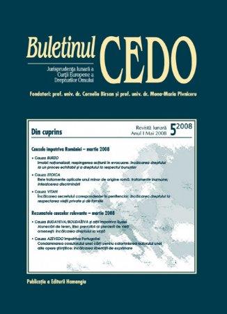 Imagine Buletinul CEDO, Nr. 5/2008