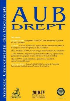 Imagine Analele Universitatii din Bucuresti - Seria Drept, Nr. IV din 2010