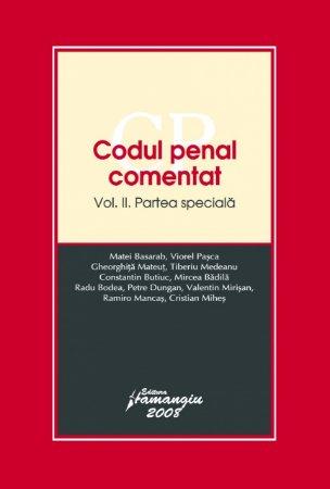 Imagine Codul penal comentat. Partea speciala vol. 2