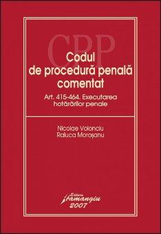 Imagine Codul de procedura penala. Executarea hotararilor penale