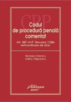 Imagine Codul de procedura penala. Recursul. Caile extraordinare de atac