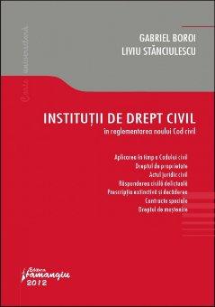 Imagine Institutii de drept civil in reglementarea Noului Cod civil