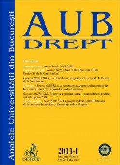 Imagine Analele Universitatii din Bucuresti - Seria Drept, Nr. I din 2011