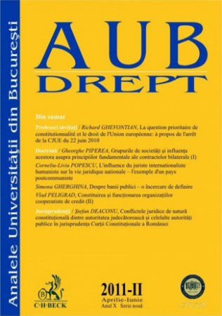Imagine Analele Universitatii din Bucuresti - Seria Drept, Nr. II din 2011