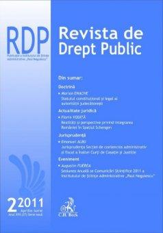 Imagine Revista de Drept Public, Nr. 2/2011