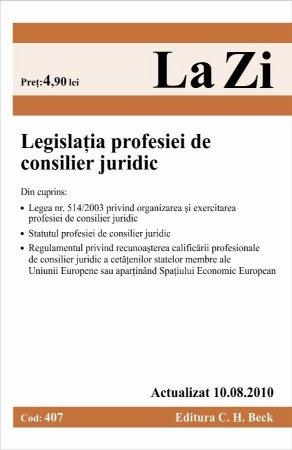 Imagine Legislatia profesiei de consilier juridic