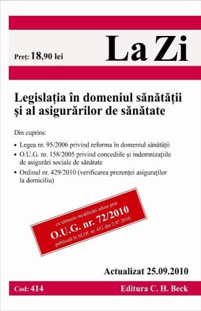 Imagine Legislatia in domeniul sanatatii si al asigurarilor de sanatate