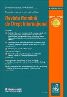 Imagine Revista Romana de Drept International, Nr. 9/2009