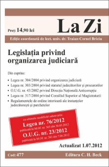 Imagine Legislatia privind organizarea judiciara