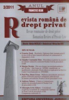 Imagine Revista romana de drept privat, Nr. 3/2011