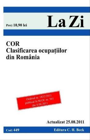 Imagine C.O.R. Clasificare ocupatiilor din Romania