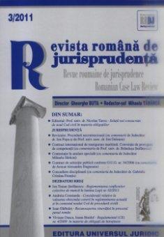 Imagine Revista romana de jurisprudenta, Nr. 3/2011