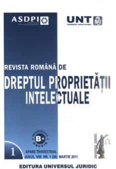 Imagine Revista romana de dreptul proprietatii intelectuale, Nr. 1/2011