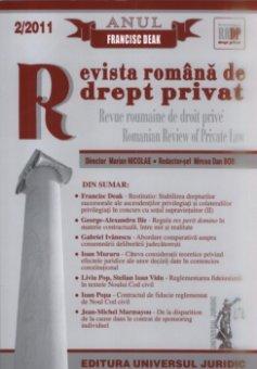 Imagine Revista romana de drept privat, Nr. 2/2011