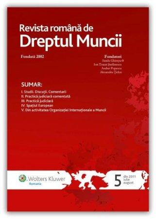 Imagine Revista romana de Dreptul Muncii, Nr. 5/2011