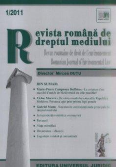 Imagine Revista romana de dreptul mediului, Nr. 1/2011